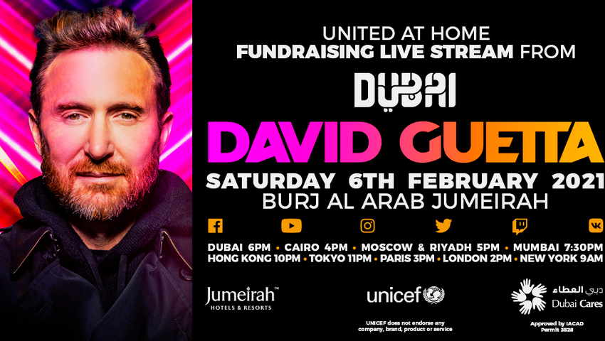 "David Guetta präsentiert ""United At Home"" in Dubai"